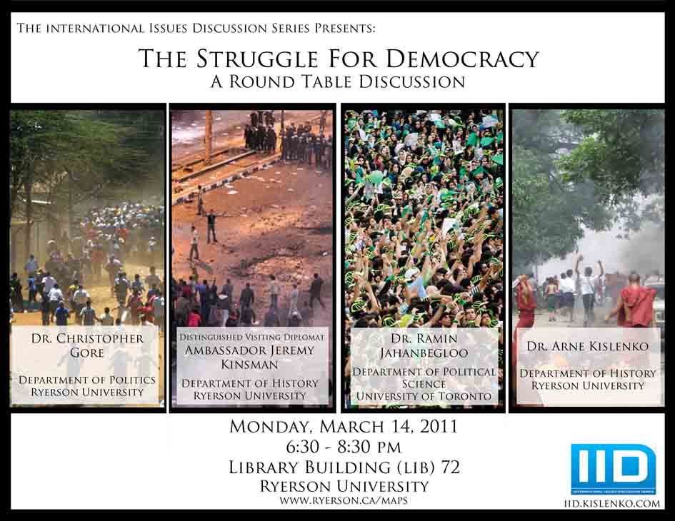 The Struggle for Democracy : A Round Table Discussion, Mon., March 14