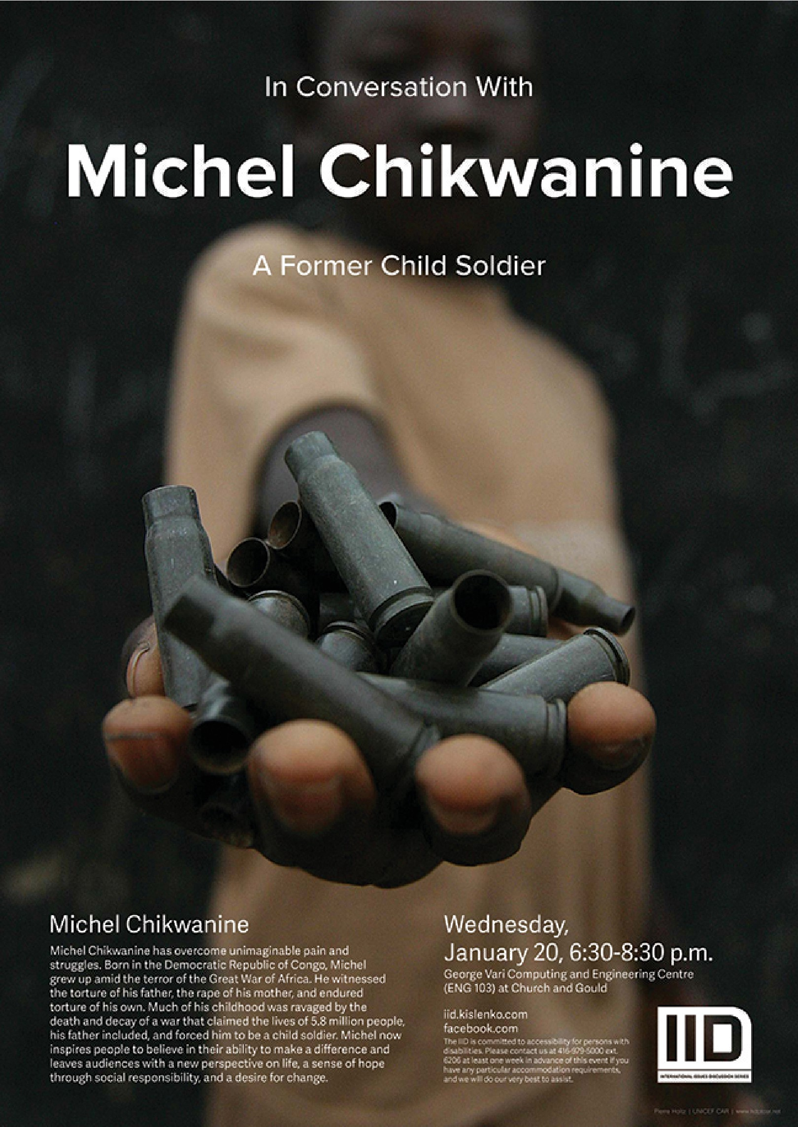 In Conversation with Michel Chikwanine, a Former Child Soldier, Wednesday, Jan. 9, 2016