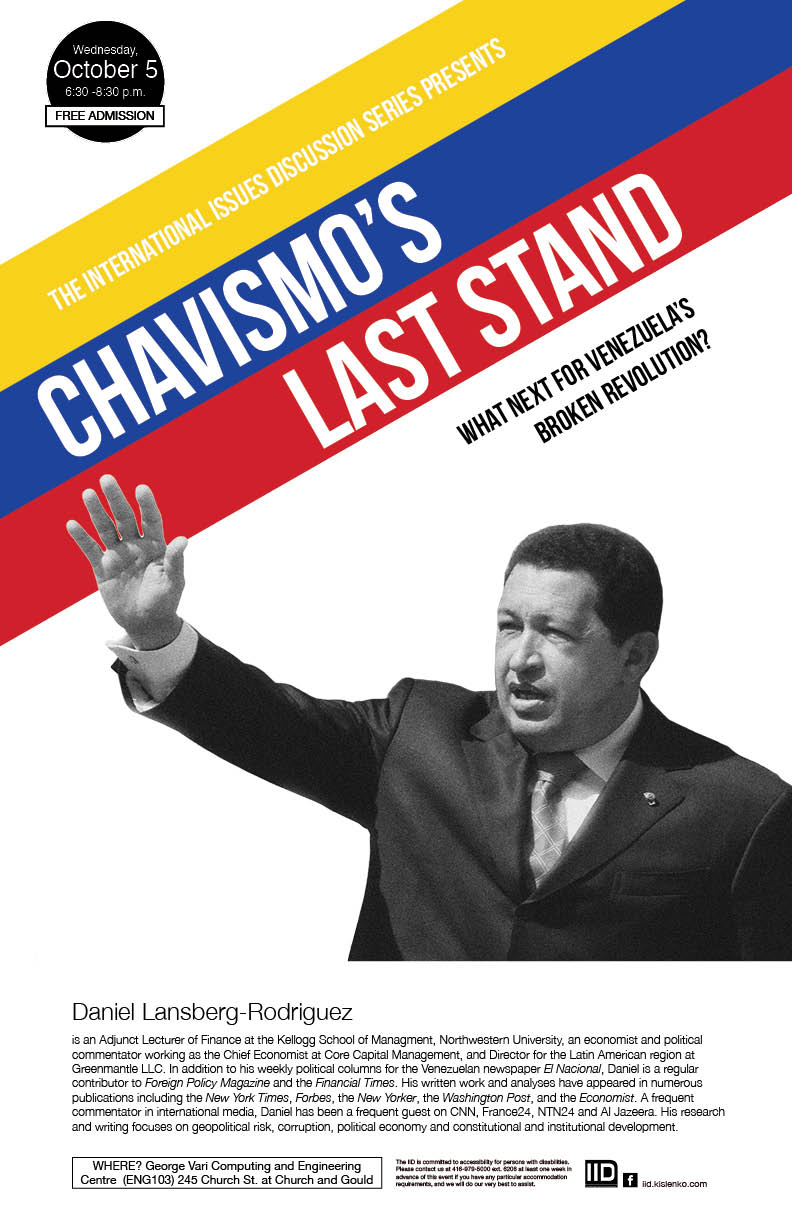 Chavismo's Last Stand: What Next for Venezuela's Broken Revolution? – Wednesday, October 5, 2016