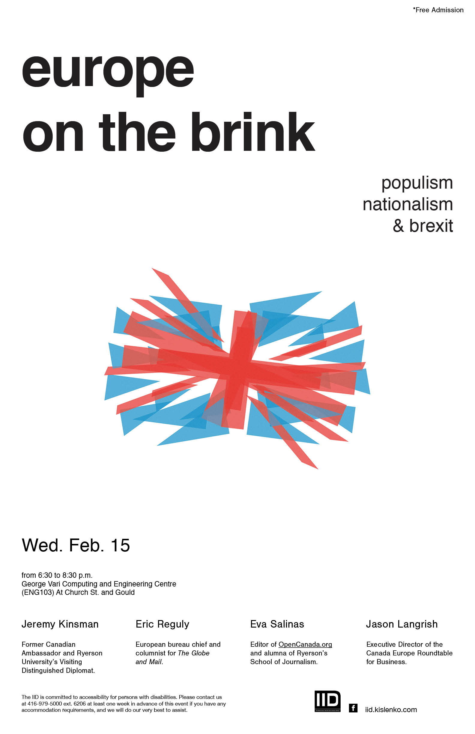 Europe on the Brink: Populism, Nationalism & Brexit – Wednesday, February 15th, 2017