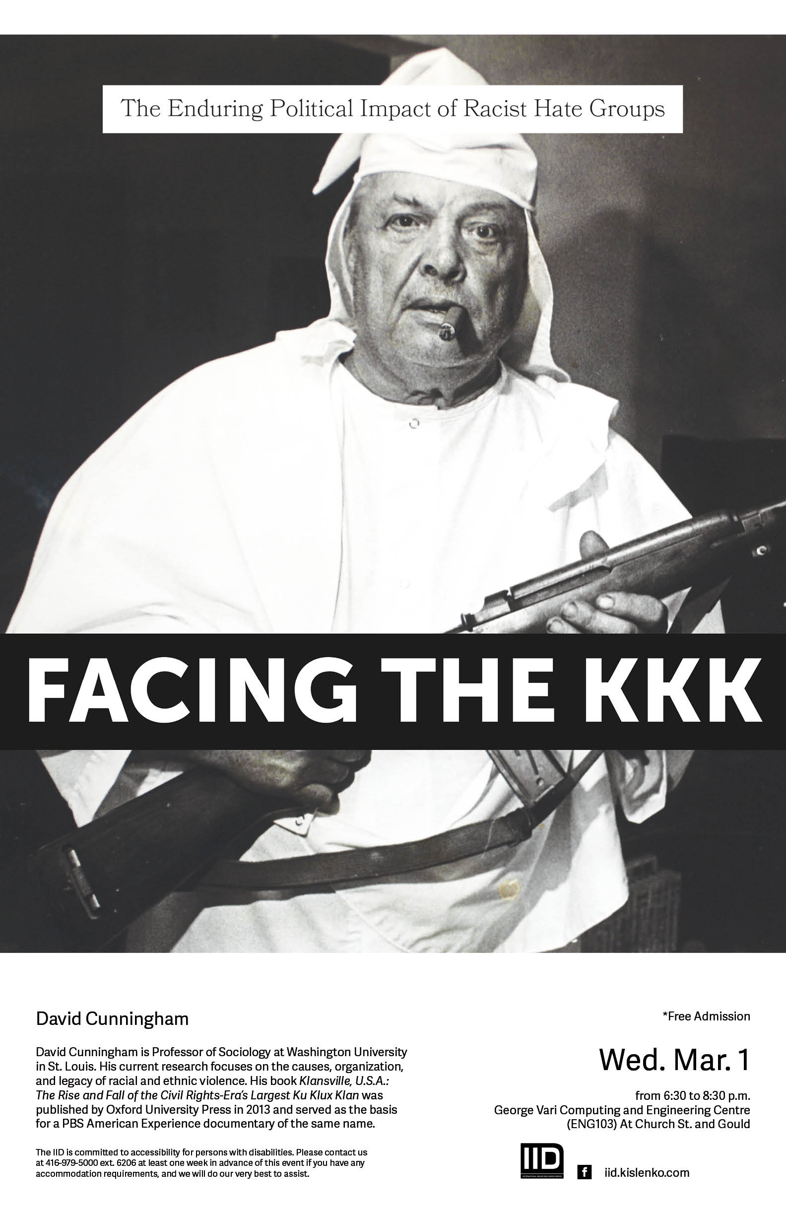 Facing the KKK: The Enduring Political Impact of Racist Hate Groups – Wednesday, March 1st, 2017