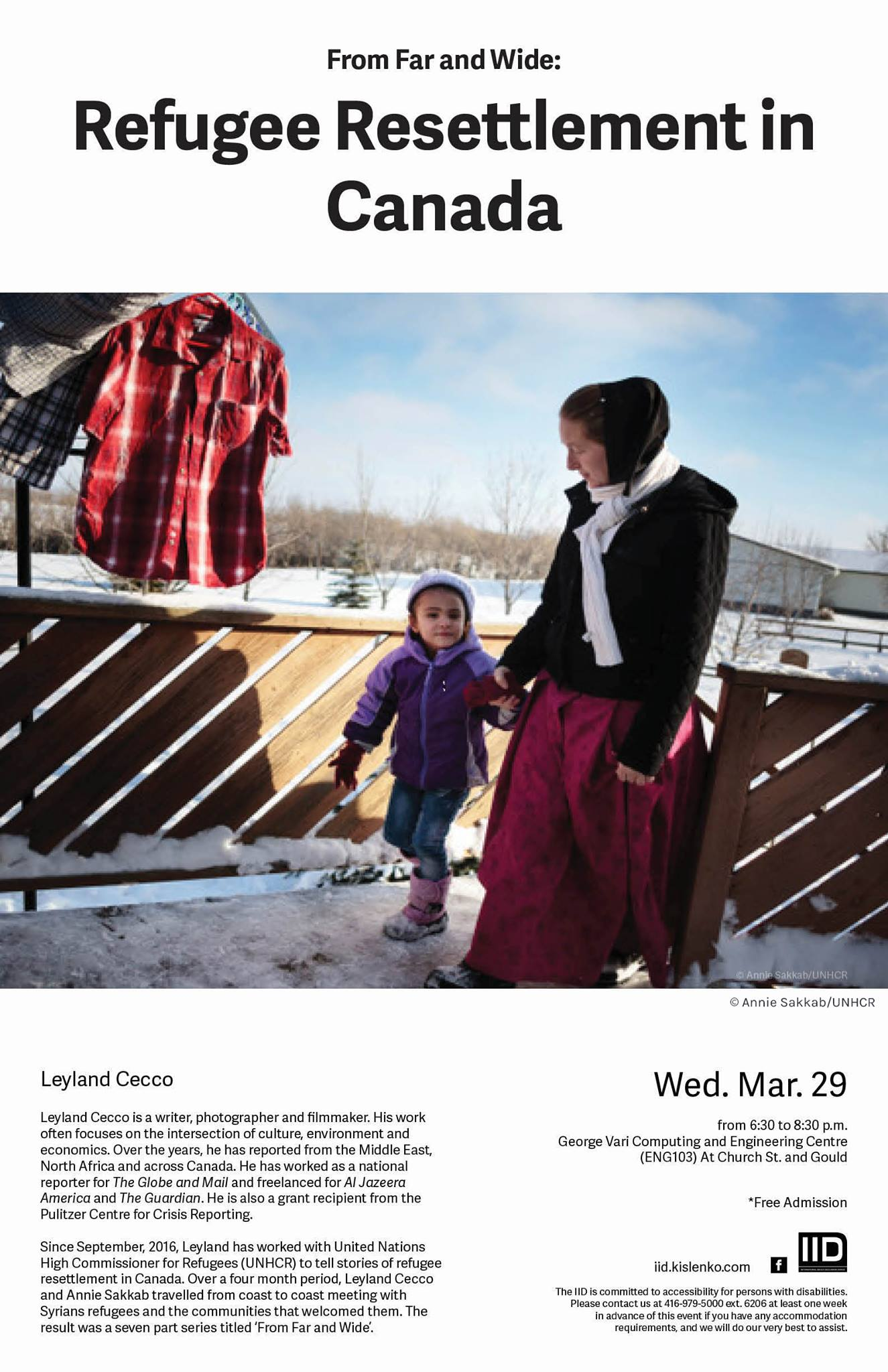 From Far and Wide: Refugee Resettlement in Canada—Wednesday, March 29th, 2017