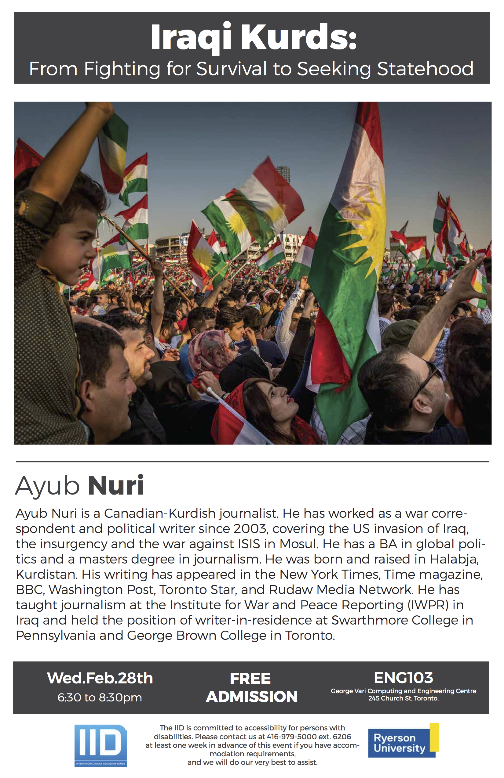 Iraqi Kurds: From Fighting for Survival to Seeking Statehood – Wednesday, February 28, 2018
