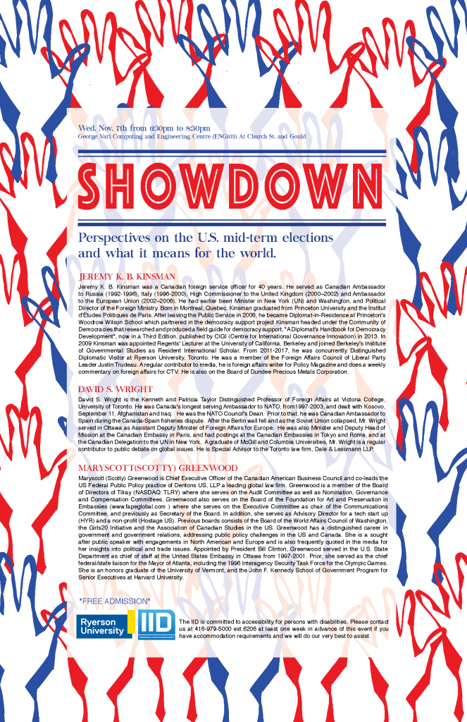 Showdown: Perspectives on the U.S. Midterm Elections and What It Means for the World – Wednesday, November 7, 2018