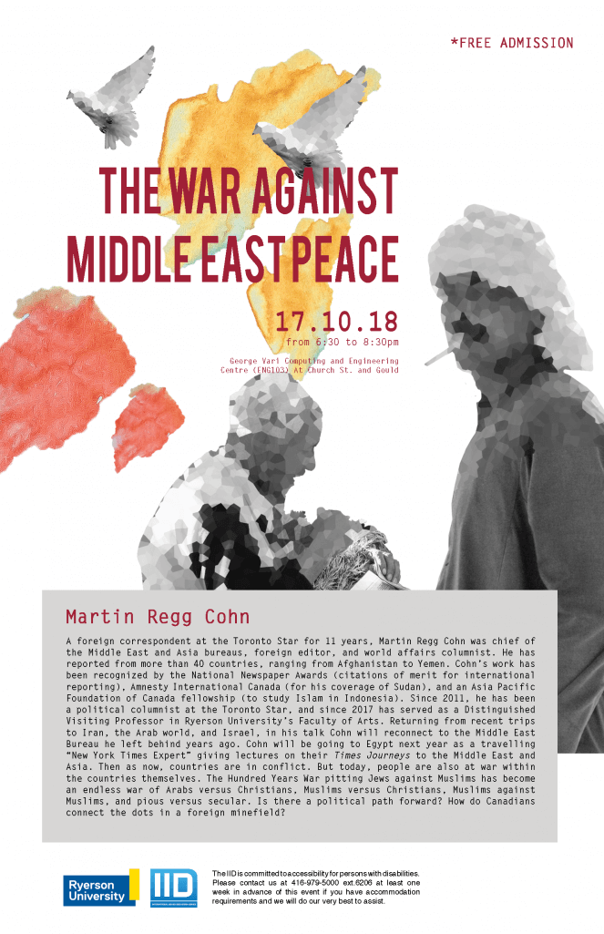The War Against Middle East Peace – Wednesday, October 17, 2018