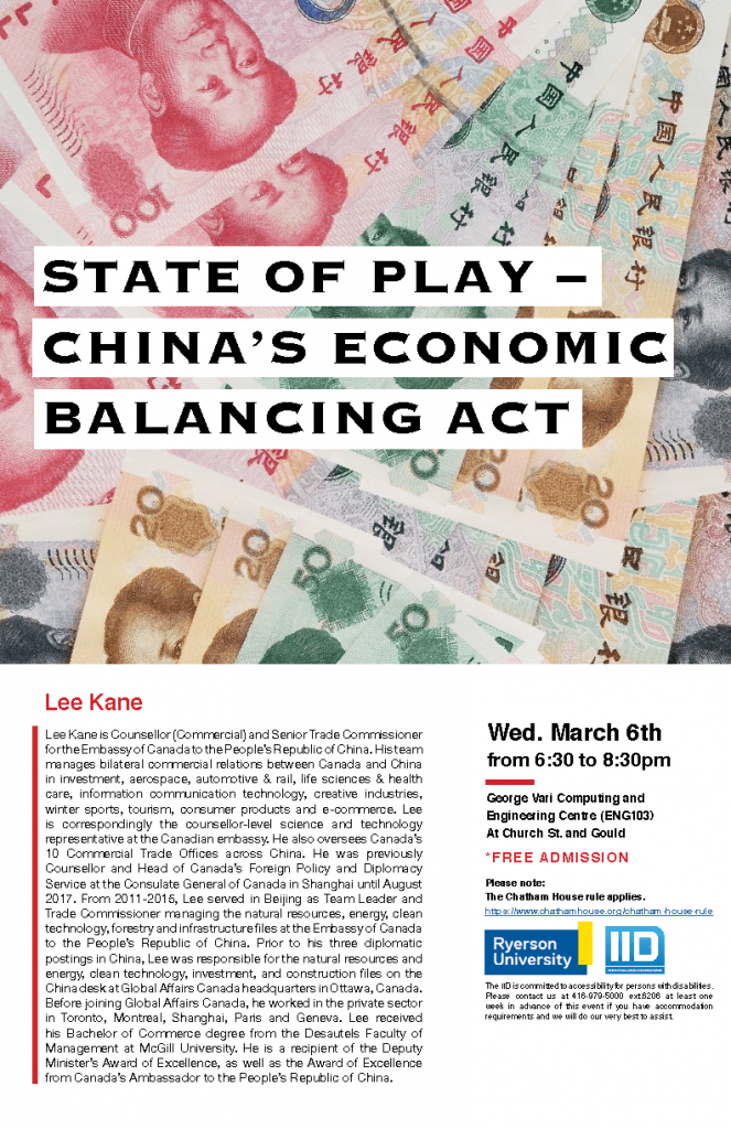 State of Play – China's Economic Balancing Act – Wednesday, March 6, 2019.